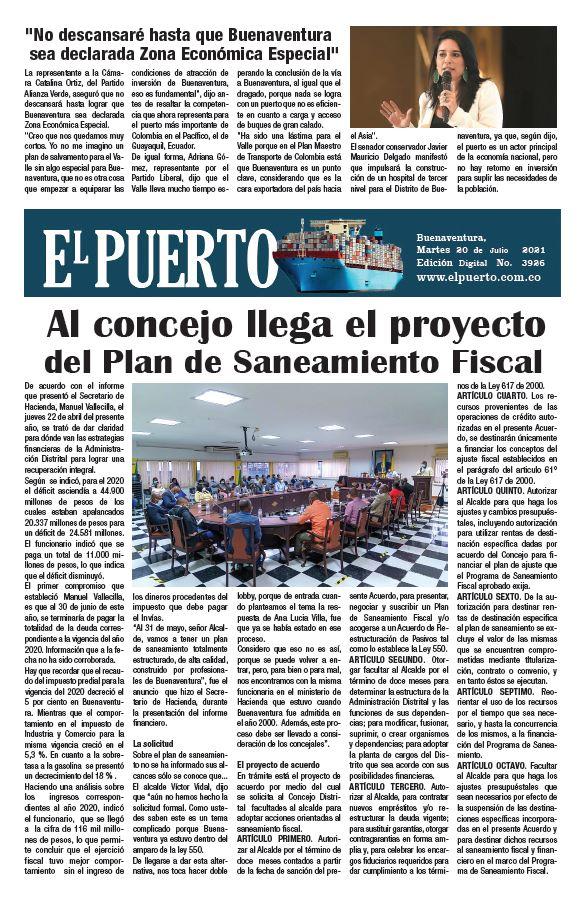 """""""No descansaré hasta que Buenaventura sea declarada Zona Económica Especial"""""""
