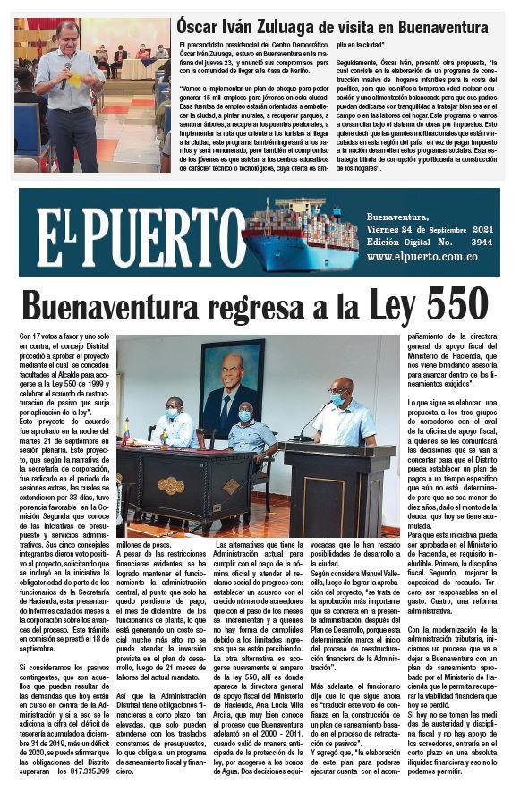 Óscar Iván Zuluaga de visita en Buenaventura